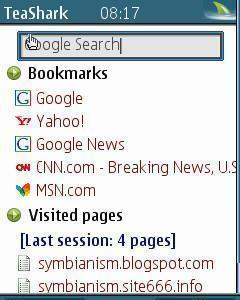 Teashark mobile web browser.
