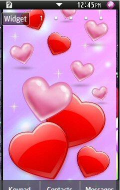 Samsung Star 2 Theme Pink Hearts