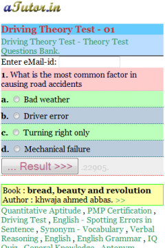 Free Java UK Driving Theory Test Software Download