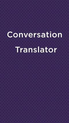 Conversation Translator