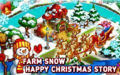 Farm snow: Happy Christmas story with toys and Santa