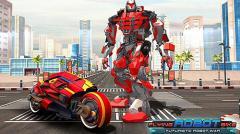 Flying robot bike: Futuristic robot war