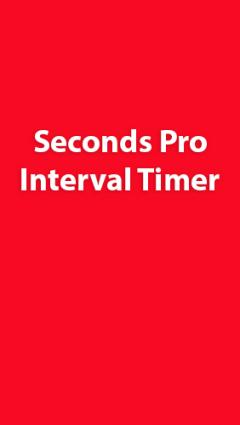 Seconds Pro: Interval Timer