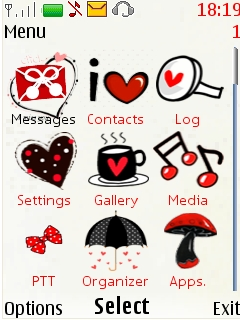 Free Nokia X2-02 / X2-05 I Love U Theme Software Download
