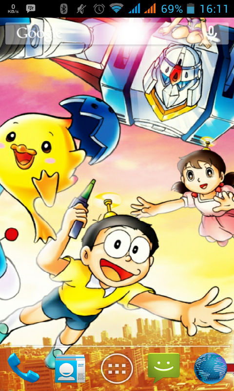 Free Samsung SM-J110L/DS Galaxy J1 Ace 3G Duos Doraemon New