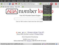 ABA Number Lookup - Firefox Addon