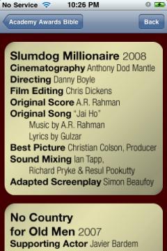 Academy Awards Bible