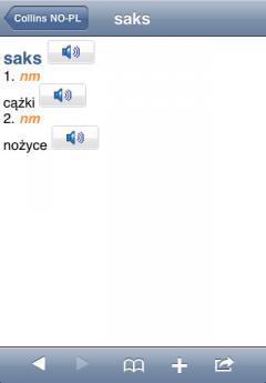Audio Collins Mini Gem Norwegian-Polish & Polish-Norwegian Dictionary (iPhone/iPad)