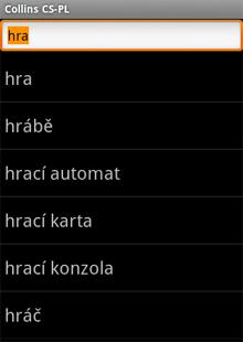 Audio Collins Mini Gem Czech-Polish & Polish-Czech Dictionary (Android)