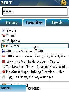 BOLT Browser (Java/BlackBerry)
