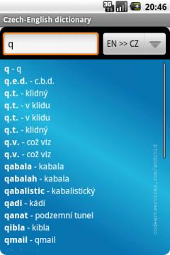 Czech-English Dictionary Lite