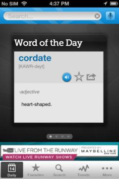 Dictionary.com for iPhone