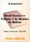 Droll Stories - Volume 1 for MobiPocket Reader