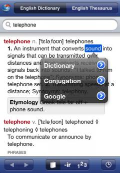 English Dictionary and Verbs