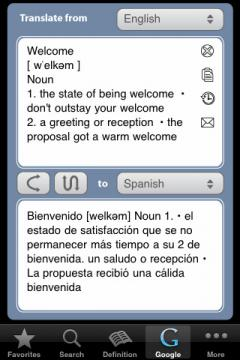 English Russian English Dictionary (iPhone)