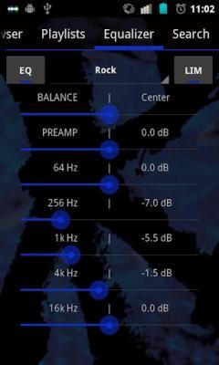 Free GoneMAD Music Player ICS Holo Dark Blue Skin Software