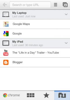 Google Chrome (iPhone/iPad)