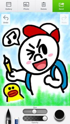 LINE Brush for iPhone/iPad