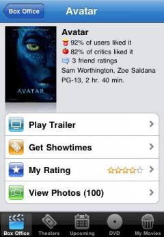Movies by Flixster, with Rotten Tomatoes (iPhone/iPad)