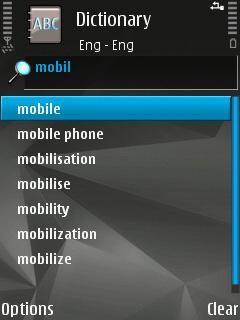 Nokia Mobile Dictionary Slovak