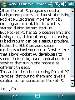 Pocket Notepad for Windows Mobile