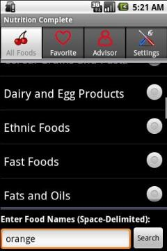 Nutrition Complete for Android