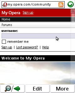 Opera Mobile (UIQ3)