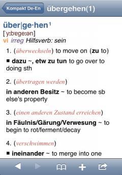 PONS Compact German - English Dictionary (iPhone/iPad)