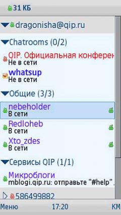 QIP Mobile Messenger (Java)