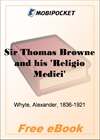 Sir Thomas Browne and his Religio Medici for MobiPocket Reader