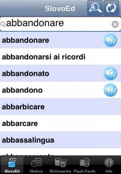 SlovoEd Compact English-Italian & Italian-English Dictionary (iPhone/iPad)