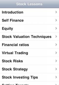 Stock Market Lessons (iPhone)
