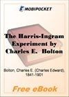 The Harris-Ingram Experiment for MobiPocket Reader