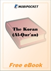 The Koran (Al-Qur'an) for MobiPocket Reader