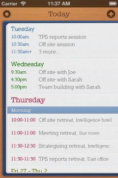 Today Calendar for iPhone