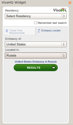 Travel VisaHQ Widget - Firefox Addon