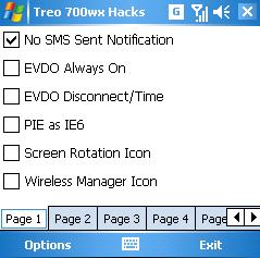 Treo 700wx Hacks