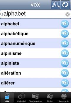 VOX French-Spanish & Spanish-French Dictionary (iPhone/iPad)