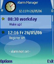 Alarm Manager S60 3rd Edition