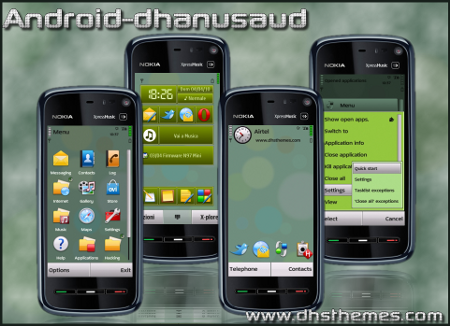 Free Nokia 5230 / 5232 / 5233 Nuron Android Theme Software Download