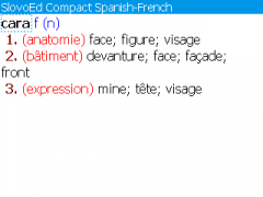 SlovoEd Compact French-Spanish & Spanish-French dictionary for BlackBerry