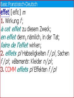 Langenscheidt Basic-Worterbuch Franzosisch for BlackBerry