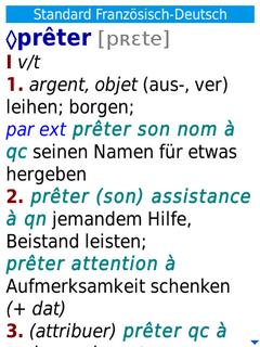 Langenscheidt Standard-Worterbuch Franzosisch for BlackBerry Storm