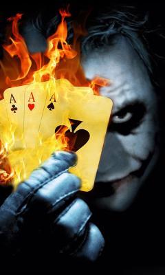 Burning Poker Joker Live Wallpaper
