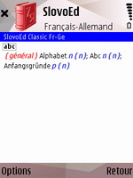 SlovoEd Classic French-German & German-French dictionary for S60