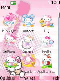 Free Nokia 7230 Hello Kitty Software Download in Themes