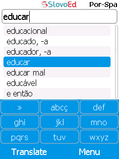 SlovoEd Compact Portuguese-Spanish & Spanish-Portuguese dictionary for mobiles
