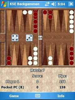 KSE Backgammon (Windows Mobile 5.0) - English