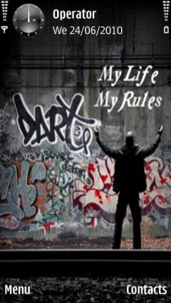 Free Nokia 603 My Life Rules Software Download In Themes Wallpapers Skins Tag