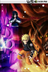 Naruto Versus Sasuke Cool Live Wallpaper